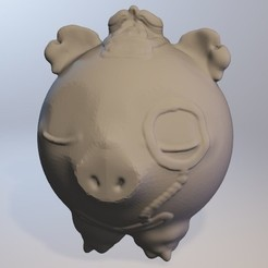 Impresiones 3D gratis Cochonou (conejillo de serie muchacho Minitoys), Majin59