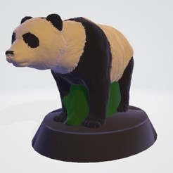 Download 3D printer model Christmas panda puzzle kit, Majin59