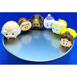Download 3D printer designs Tsum Tsum my way: The Beauty and The Beast (6 figures), Majin59