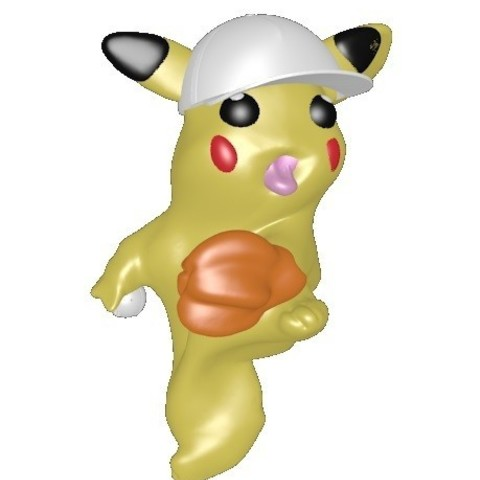 pikachu baseball 1.jpg Download STL file Baseball Pikachu Salamèche carapuce • 3D printing template, Majin59
