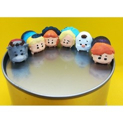 Download 3D printer designs Tsum Tsum my way: Frozen (6 figures), Majin59
