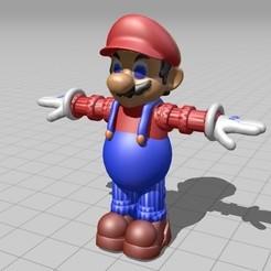 STL Pack of 4 Mario brushed postures, Majin59