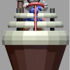 MINNIE FACE.png Download STL file Minnie's Cupcake Vehicle • 3D print template, Majin59