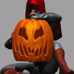 Download 3D printer designs HALLOWEEN ZOMBIE WALKER PUMPKIN WALKER, Majin59