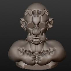 Modèle 3D Zombie Frankenstein (série bustes fantastiques), Majin59