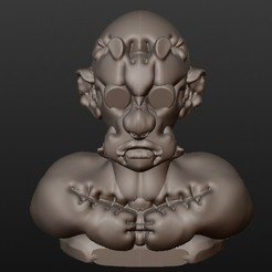 STL files Zombie Frankenstein (fantastic busts series), Majin59
