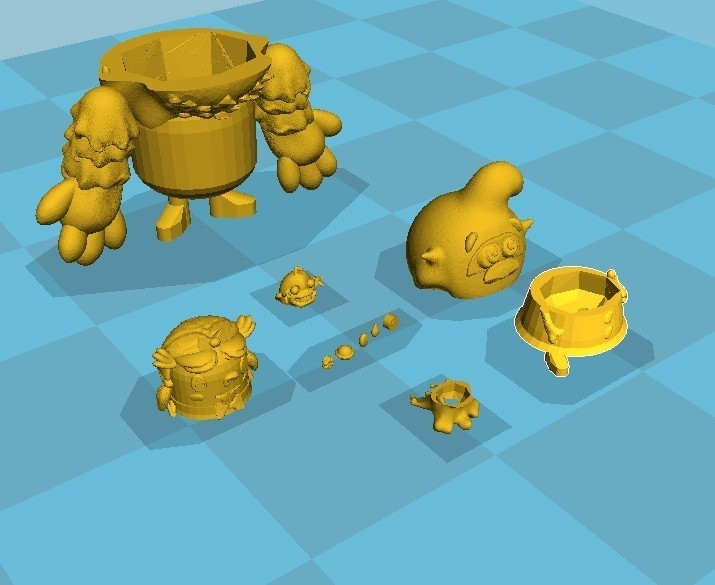 scene impression.jpg Download STL file CANDY CRUSH SAGA MATRYOSHKA • 3D printing design, Majin59