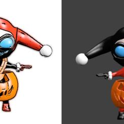 img illustration harlez halloween masque.png Télécharger fichier STL harlez queen halloween • Modèle à imprimer en 3D, Majin59
