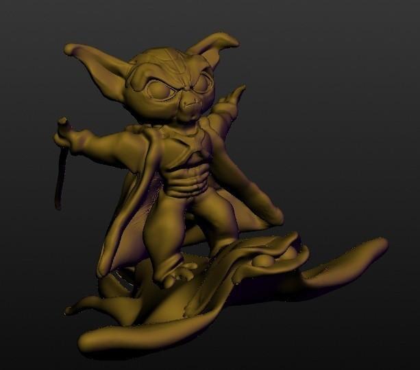 yoda & raye.jpg Download STL file Yoda & Raye (hero series in situation) • 3D printing object, Majin59