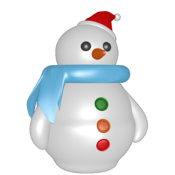 Download 3D printer templates Snowman, Majin59