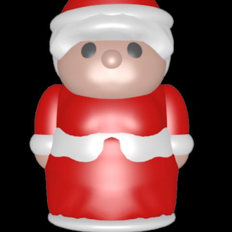 3D printer models Santa Claus, Majin59