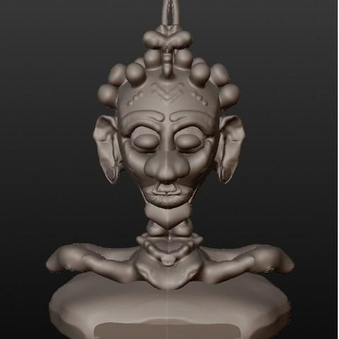 Télécharger fichier STL Shaman africaine (série bustes fantastiques), Majin59