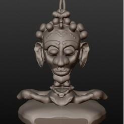 3D print files African shaman (fantastic busts series), Majin59
