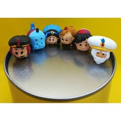 Download 3D printing templates Tsum Tsum my way: Aladdin (6 figures), Majin59