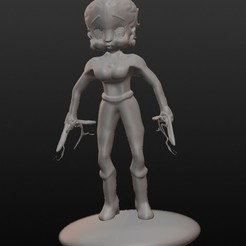 betty superheroine boomerang.jpg Télécharger fichier STL Betty Boop superhéroïne boomerang • Plan à imprimer en 3D, Majin59