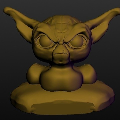 Archivos 3D Yoda (conocida serie busto), Majin59