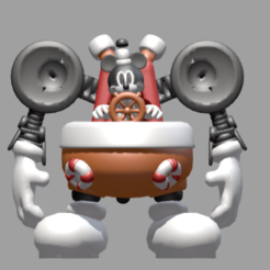 mickey face.png Download STL file Mickey the bulky robot • 3D printable design, Majin59