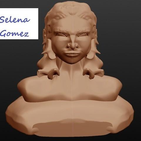 selena gomez.jpg Download STL file Selena Gomez, singer • 3D print template, Majin59