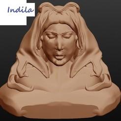 3D print model Indila, singer, Majin59