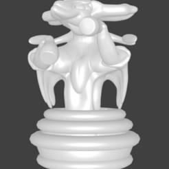 cavalier viridium blanc.jpg Download STL file Pokemon, chess, Viridium's Rider • Model to 3D print, Majin59