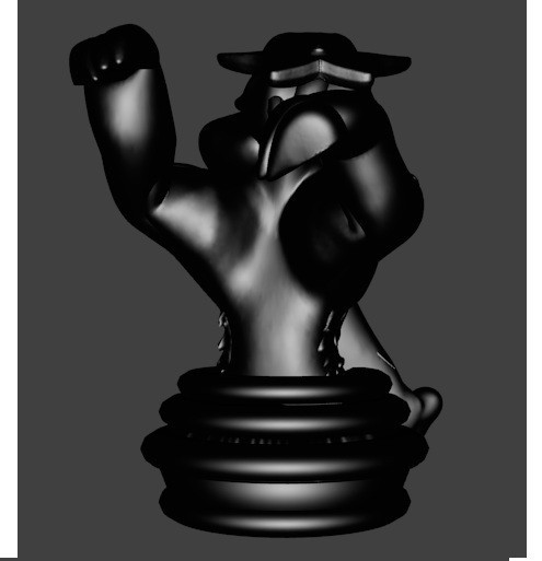 cavalier raikou noir.jpg Download STL file Pokemon, Raïkou rider, chess game • 3D printing design, Majin59