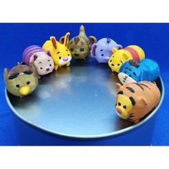 Download 3D printer files Tsum Tsum my way: Winnie The Pooh (8 figures), Majin59