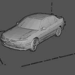Download 3D printing models peugeot 405, Majin59