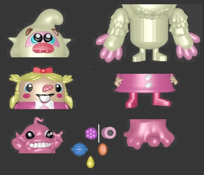 demots ensemble.jpg Download STL file CANDY CRUSH SAGA MATRYOSHKA • 3D printing design, Majin59