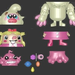 plan 3d CANDY CRUSH SAGA MATRYOSHKA, Majin59