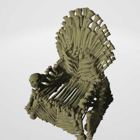 throne bones.png Download STL file Bone Throne • Model to 3D print, Majin59