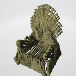 3D printer files Bone Throne, Majin59