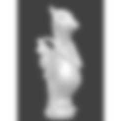 fou lianaja blanc.stl Download STL file Pokemon, Lianaja, chess, crazy • 3D printing template, Majin59