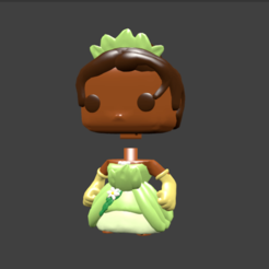 tiana pop.png Download STL file TIANA VAIANA MEGARA ESMERALDA VANELLOPE • 3D printer design, Majin59