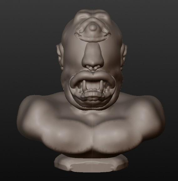cyclope.jpg Download STL file CYCLOPE (fantastic busts series) • 3D printable template, Majin59