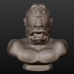 Objet 3D CYCLOPE (série bustes fantastiques), Majin59