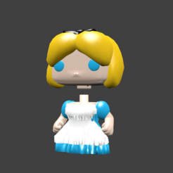 alice pop.png Download STL file ALICE ANNA AURORE ARIEL BELLE • 3D printing design, Majin59