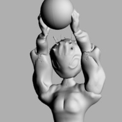 en tête kaïna.jpg Download STL file Kaïna • Design to 3D print, Majin59