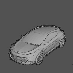 megane trophy noir.jpg Download STL file Renault megane trophy • Template to 3D print, Majin59