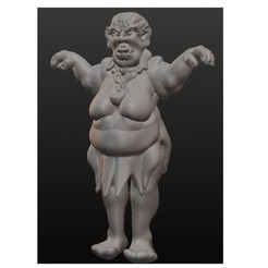 Descargar modelos 3D ogresa regordeta, Majin59