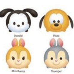 OSWALD PLUTO PANPAN MISS BUNNY COLOR.png Download STL file COOKIE CUTTER TSUMTSUM • 3D print object, Majin59