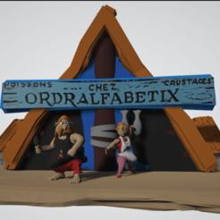 photo scene de vis ordralfabetix et bonemine.png Télécharger fichier STL Diorama, scène de vie Ordralfabétix, Ielosubmarine et leur maison • Plan à imprimer en 3D, Majin59