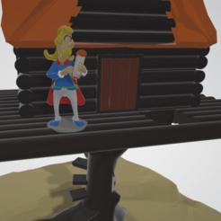 photo de pres ASSURANCETOURIX.png Télécharger fichier STL Diorama, scène de vie Assurancetourix • Plan imprimable en 3D, Majin59
