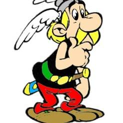 asterix color.jpg Download STL file COOKIE CUTTER asterix 2 • 3D printing design, Majin59