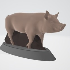 Download 3D printer model Christmas pig puzzle kit, Majin59