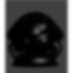 pion kabuto noir.stl Download STL file kabuto • 3D printer design, Majin59