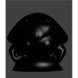 pion kabuto noir.jpg Download STL file kabuto • 3D printer design, Majin59