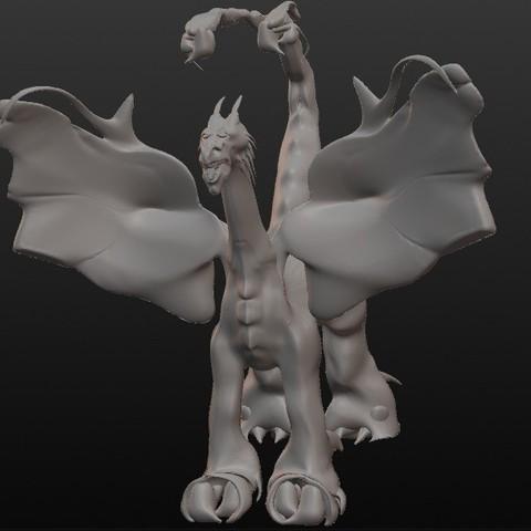 dragon scorpion.jpg Download STL file Scorpion Dragon • 3D print model, Majin59