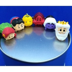 Download STL files Tsum Tsum my way: The little mermaid (6 figures), Majin59