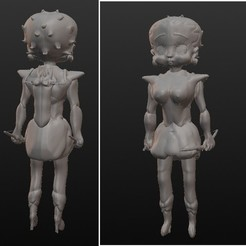 Modelos 3D Betty amazon archere, Majin59