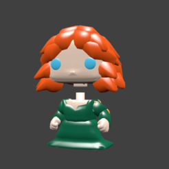 merida pop.png Download STL file MERIDA MINNIE MULAN RAIPONCE SOFIA • Template to 3D print, Majin59